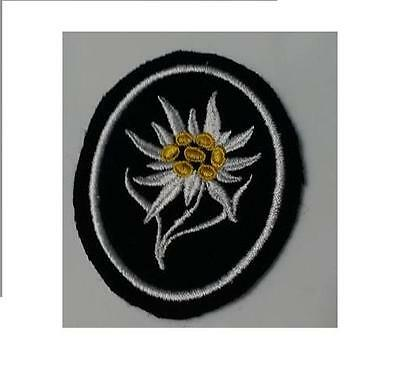 WWI WW2 German Elite Edelweiss mountain climber patch w RZM tag