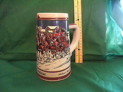 1989 Budweiser Holiday CS89 Tradition Beer Stein Signature Series