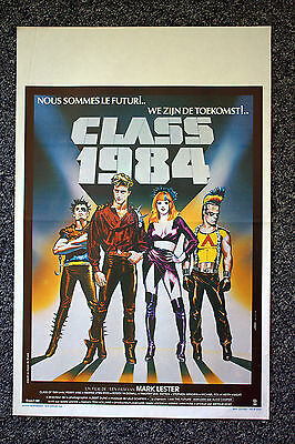 CLASS OF 1984 Original Vintage 1980s Belgian WS Movie Poster Perry King