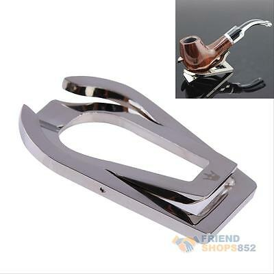 Stainless Steel Portable Foldable Cigar Tobacco Smoking Pipe Stand Rack Holder