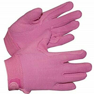 Childrens Horse Riding Gloves Pink - Small (approx 7 - 8yrs) by Shires