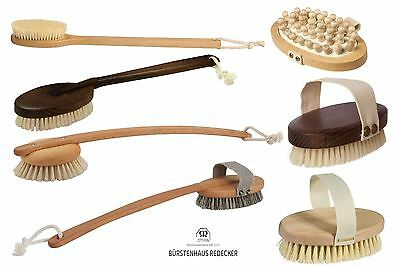 Redecker Treated Wood Bath, Shower or Massage Exfoliating Brush Brushes