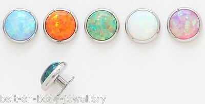7mm Opal Stone Dermal Anchor Head - 9 Colours