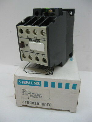 Siemens 3TB4010-0AF8 Size 00 Contactor 5 Hp 24V DC Coil New