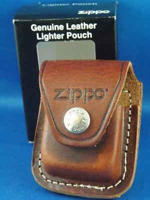 ZIPPO POUCH LIGHTER  or TAPE MEASURE GENUINE BROWN LEATHER MADE IN USA