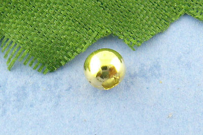 500Pcs Gold hot Smooth Ball Spacer Beads 4mm in Dia.