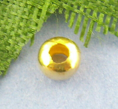 1000Pcs Gold hot Smooth Ball Spacer Beads 3mm Dia