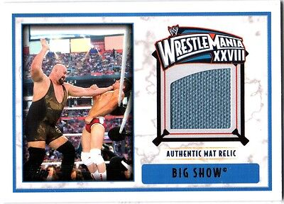 WWE Big Show WrestleMania 28 Authentic Event Used Mat Relic Card 2012 Topps DWC