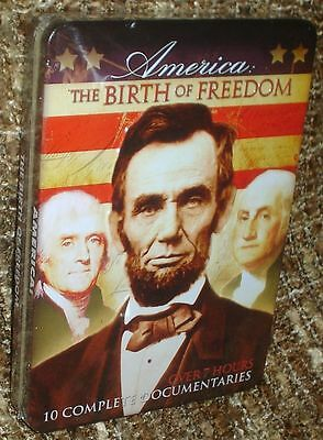 AMERICA: THE BIRTH OF FREEDOM 2-DISC COLLECTOR'S TIN,NEW & SEALED,10 FILMS