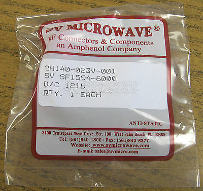 SV Microwave 40GHz SMK 2.92mm 90° Right Angle M to F Adapter