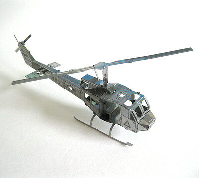 Huey UH 1 Helicopter Military Aircraft Metal Model KIt Office Desktop Decor