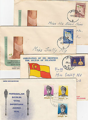 Stamps Malaysia on group of 8 mixed FDCs from 70's & 80's most include inserts
