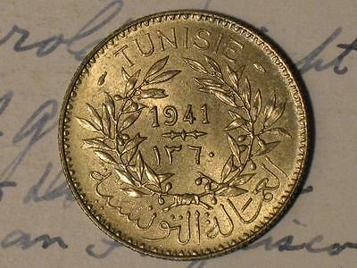 1941 Tunisia 2 Francs - Old World Coin - Tunisie