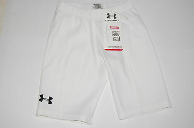 under armour heat gear girls youth extra small  ua fitted short sportswear