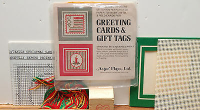 """""""JOY"""" greeting card Aster Place counted cross stitch kit perforated paper"""