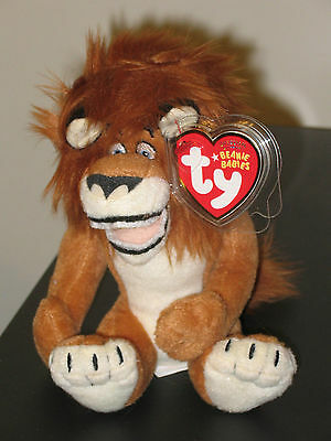 Ty Beanie Baby ~ ALEX the Madagascar Movie Lion ~ MINT  with MINT TAGS~ RETIRED