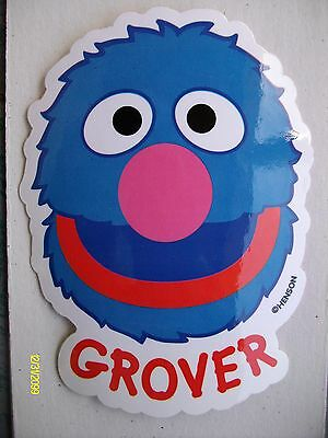 HTF Original 15-year old Sesame Street Grover Vending Machine Sticker