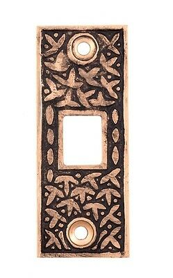 rice pattern cast bronze single pocket door strike striker catch plate