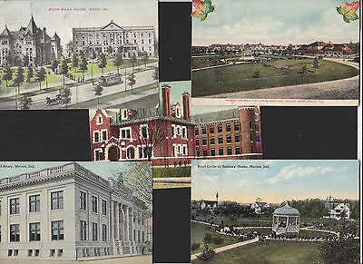 5-Marion-Indiana-Assorted Views-Antique Postcard Lot