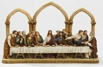 The Last Supper with Florentine Arches Religious Figurine 64742 Statue Roman New