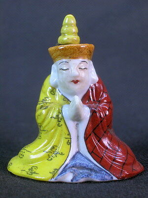 """Chinese """"Tang Seng"""" Shape Hand Painted Porcelain Snuff Bottle"""