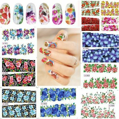Flower Decal Water Transfer Women Manicure Nail Art Stickers DIY Tips Decor Hot