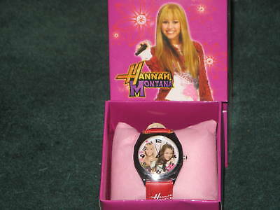 (NEW)HANNAH MONTANA MILEY CYRUS  STAINLESS GIRLS WATCH W/BOX GIFT. FREE SHIPPING