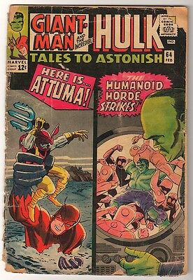 Marvel TALES TO ASTONISH 64  HULK ANT-MAN Pym GIANT MAN AVENGERS LOW GRADE