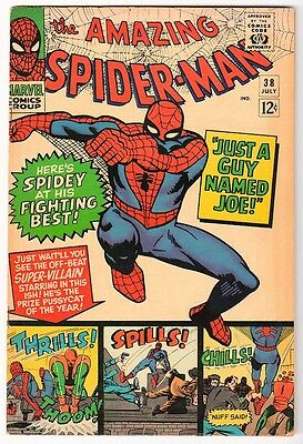 MARVEL Comics 7.0 Mid- high GRADE SPIDER-MAN SILVER  #38 1965 AMAZING spiderman