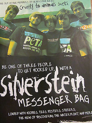 Silverstein, PETA, Full Page Promotional Ad