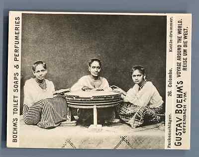 "Ceylan, Colombo, Kettle-drummer  Vintage silver print. Photo from the Series ""Gu"