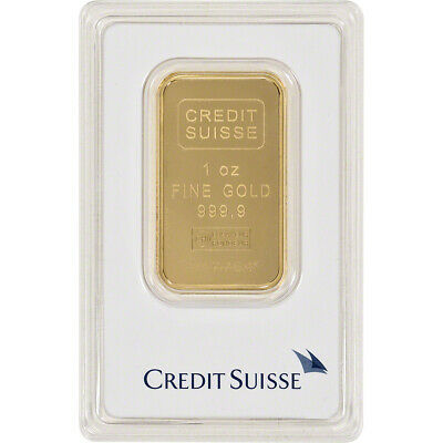 1 oz. Gold Bar - Credit Suisse - 99.99 Fine in Assay