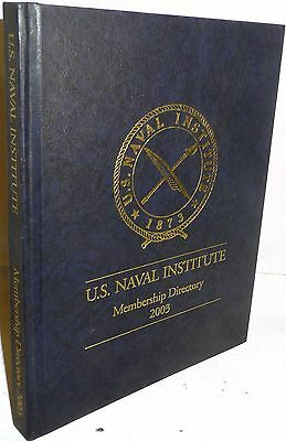 2003 US Naval Instite Membership Directory Navy Research Reference Book