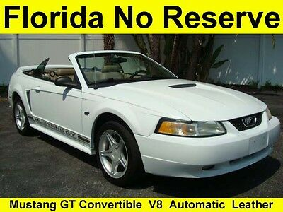 Ford : Mustang GT V8 NO RESERVE HI BID WINS 2000 CONVERTIBLE LEATHER SERVICED AUTOMATIC MACH 460 FLA