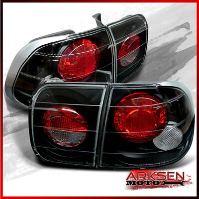 Fits 96-98 Honda Civic 4DR JDM BLK Altezza Tail Lights Lamps Upgrade Left+R