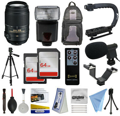 All You Need 128GB Accessories Kit for Nikon D5500 D5300 D5200 D5100 D3300 D3200