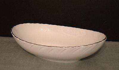 "LENOX Bone China SERVING BOWL 9.5"" ""Weatherly"" Pattern Disc. Mint Condition"