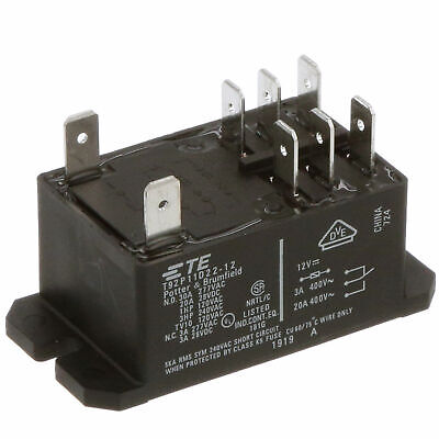 Potter & Brumfield T92P11D22-12 Power Relay DPDT 12V DC 30A, TE/T92/T92S11D22-12