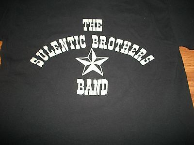 The Sulentic Brothers Band  & Star Sparkling Silver on Black T-Shirt Med New
