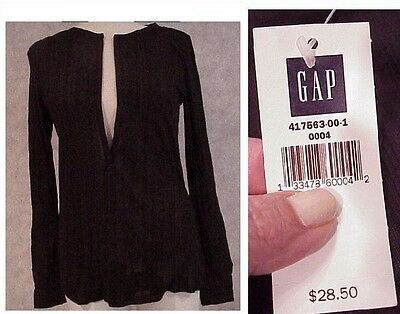 GAP women's top NEW sexy shirt brown open front slenderizing $29 size Small