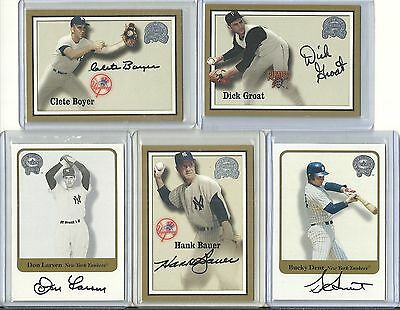 2001 Fleer Greats of the Game - BUCKY DENT - Autograph - YANKEES