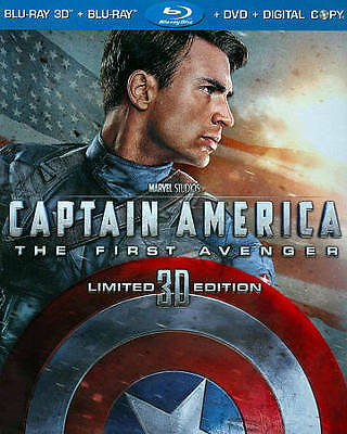 BLU-RAY 3D CAPTAIN AMERICA THE FIRST AVENGER 3-DISC SET +DVD SET MARVEL