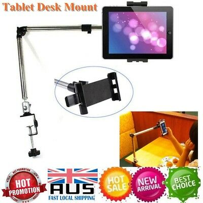AU BLK 360º Rotating Lazy Bed Desktop Stand Tablet Holder Mount For iPad iPhone