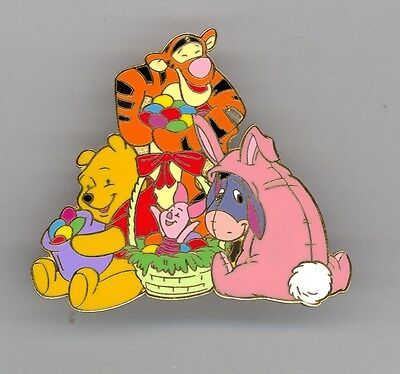 Disney Easter Winnie the Pooh Tigger Piglet & Eeyore as Bunny Rabbit LE Pin