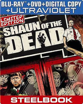 Shaun of the Dead (Blu-ray/DVD/UV) Limited Edition Steelbook, NEW!