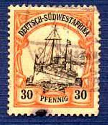German South West Africa-SC#18-Kaiser's Yacht-Used