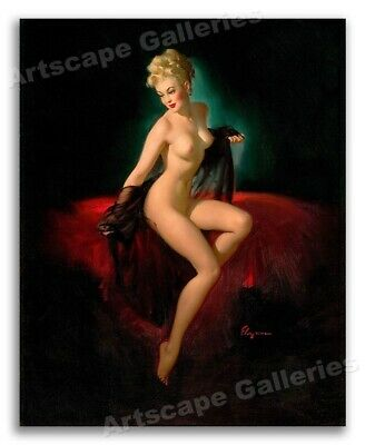 """1940's Elvgren Sexy Pin-Up Girl Poster """"Vision of Beauty"""" - 16x20"""