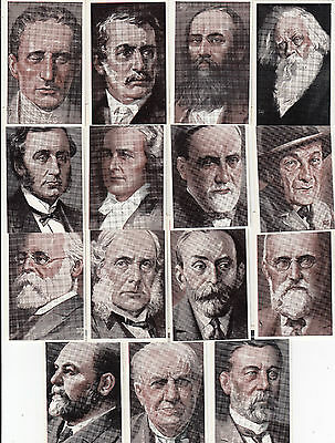 STAMINA men's clothes advertising set of 18 cards famous men Hargraves, Forrest