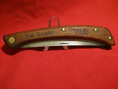 Vtg The Traveler Fold Fish Filet Knife Chicago Cutlery P25 USA  Old 1 No Case NR