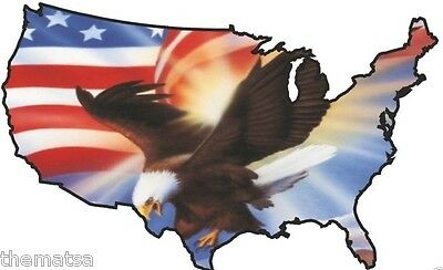 USA FLAG MAP EAGLE FLYING TOOL BOX HELMET BUMPER STICKER DECAL MADE IN USA